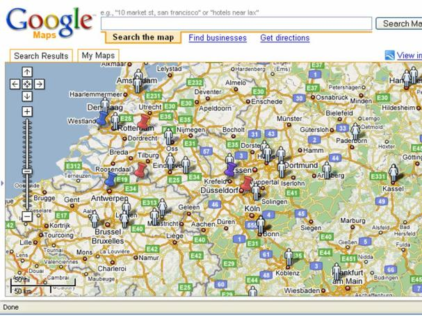 Google Maps and MEPs